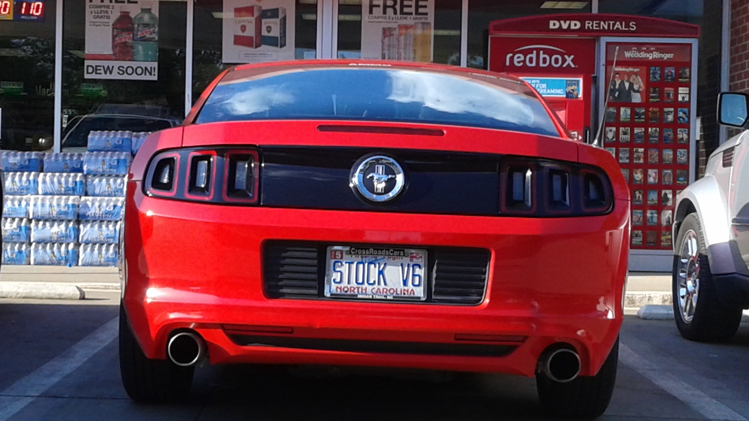 Ford Mustang With Stock V6 Plate Is One Ironic Pony
