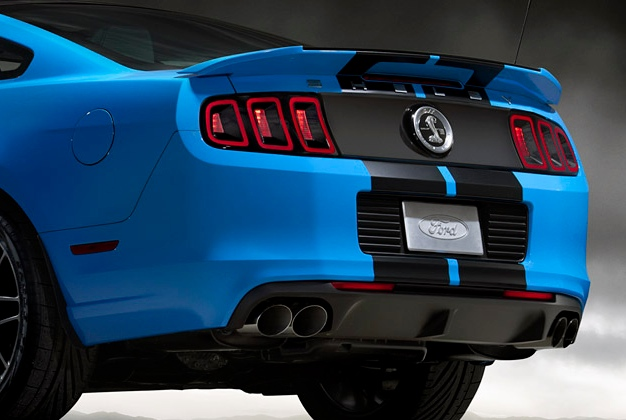 mustang gt exhaust quad ford kit tip racing gt500 launches parts performance autoevolution conversion