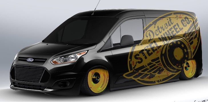 Ford Readying 10 Custom Transit Connect Vans for SEMA [Photo Gallery]