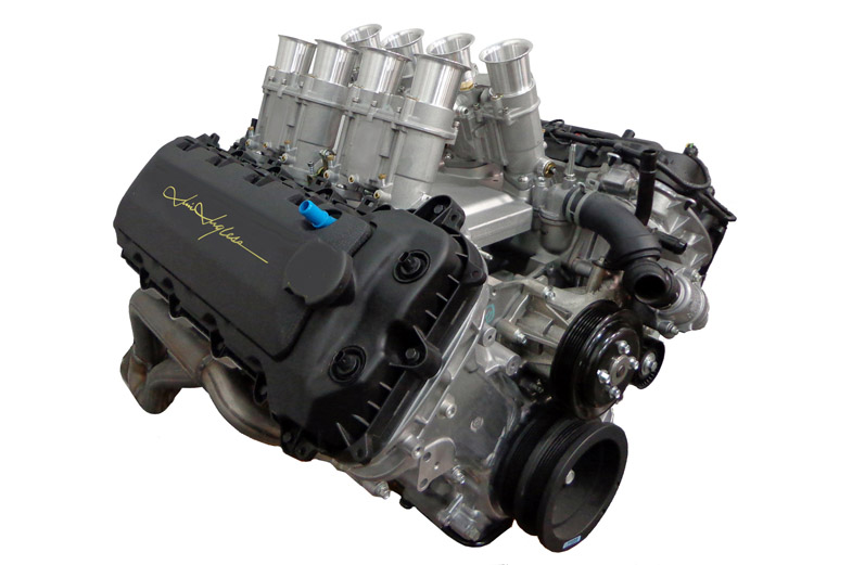 Ford S Coyote V Gets Jim Inglese Independent Runner Induction System on 5 4 Liter Ford Crate Engine