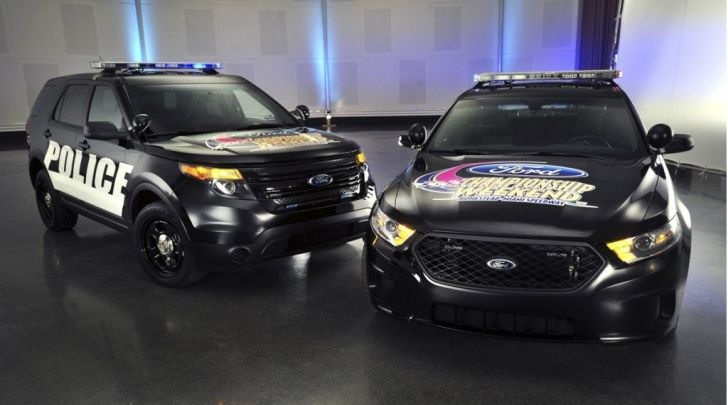 Ford Taurus and Explorer Police Interceptors Become NASCAR Pace Cars