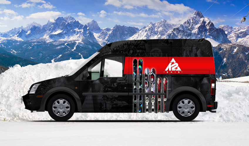 Ford Transit Connect Gets Custom Graphic Wraps Autoevolution