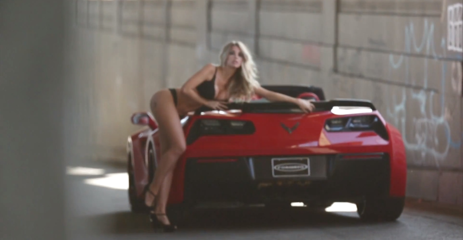 Forgiato Widebody Corvette Stars In Hot Car And Girl Photo