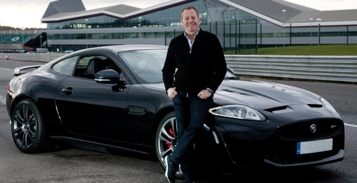 Former F1 Driver Martin Brundle Tests Jaguar XKR-S