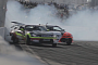 Formula Drift Car Scrapes Wall and Loses Wheel [Video]