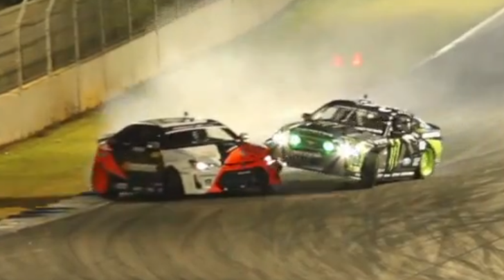 formula drift crash vaughn gittin hits fredric aasbo video 59435