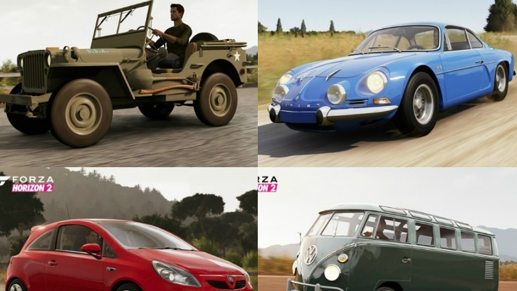 Forza Horizon S First Cars Revealed Renault Alpine And
