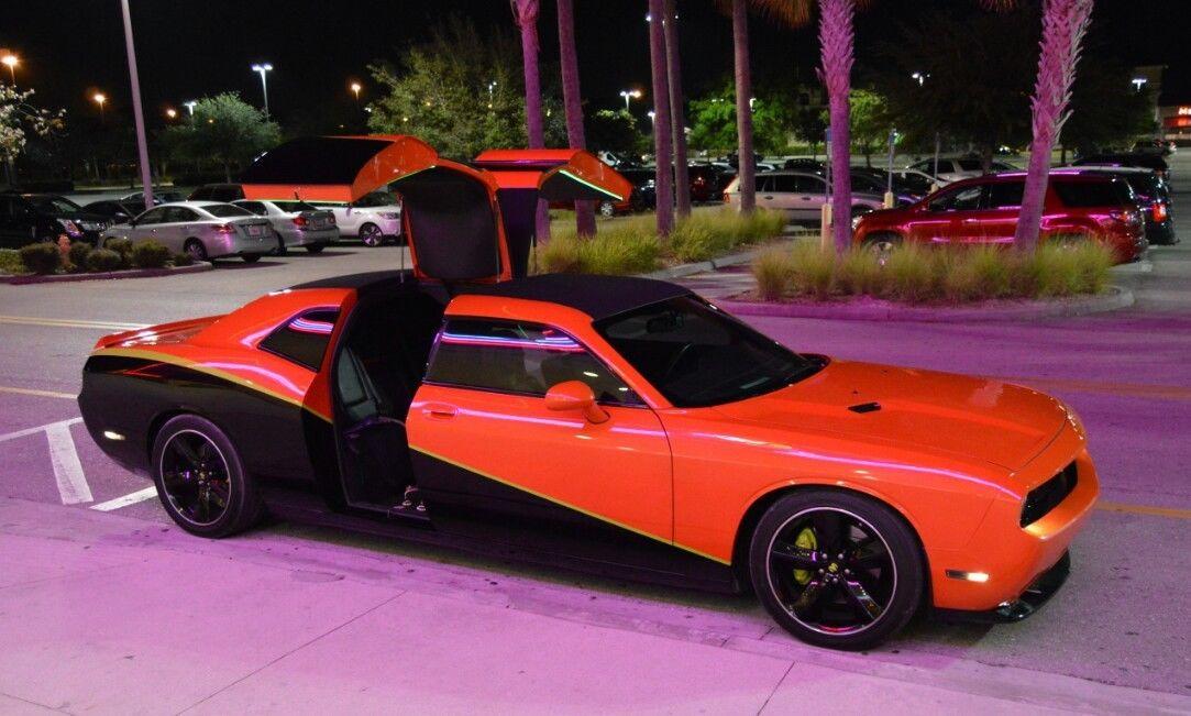 Four-Door Dodge Challenger SRT8 Has Rear Gullwing Doors ...