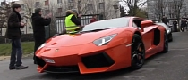Four Lamborghini Aventadors Attack Paris [Video]