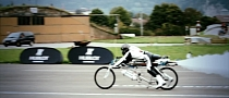 Francois Gissy Seeks New Record with His Rocket-Powered Bicycle [Video]