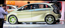 Frankfurt Auto Show: Mercedes Benz BlueZERO E-Cell [Live Photos]