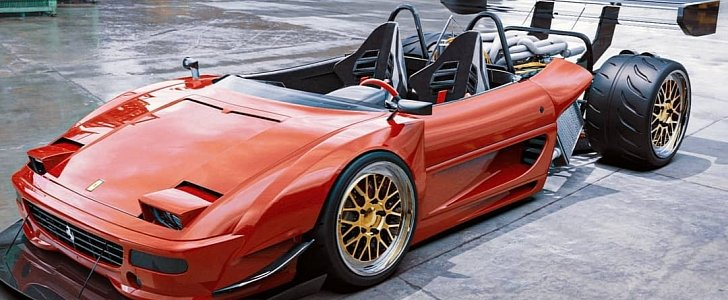 French Shop Building Ferrari F355 Hot Rod With Only Half A Body Autoevolution