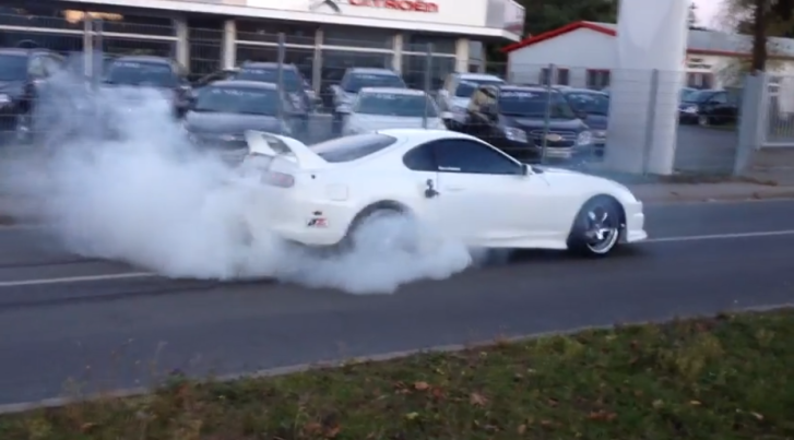 Freshly Tuned Toyota Supra Says Hello from Germany [Video]