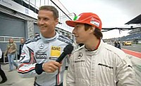 David Coulthard acted as hayden's driving instructor