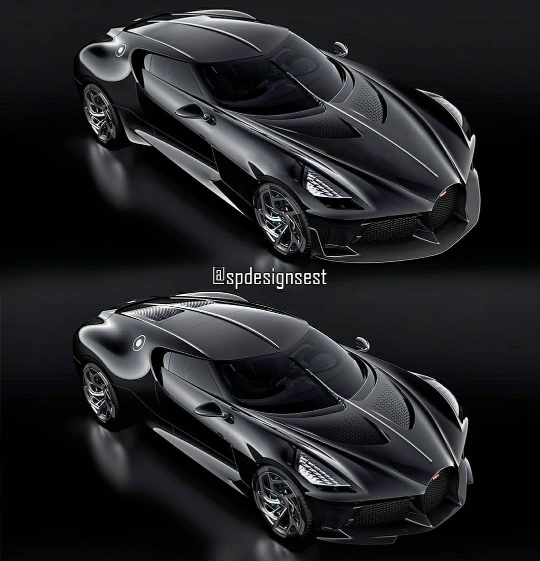 Front-Engined Bugatti La Voiture Noire Rendered, Looks