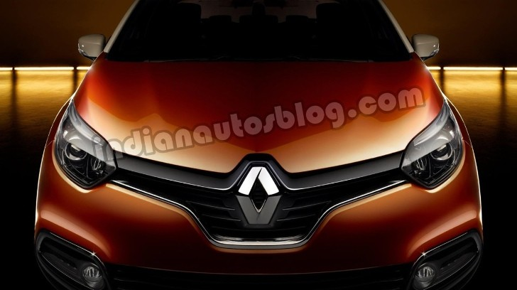 Front Fascia of the Renault Captur Crossover Rendered