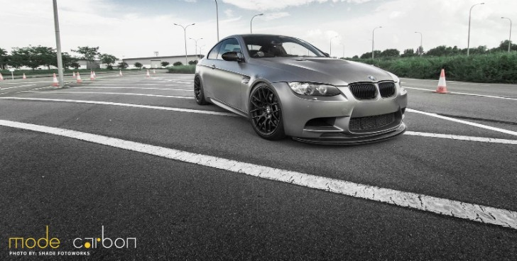 Frozen Grey BMW E92 M3 Features Mode Carbon Parts [Photo Gallery]