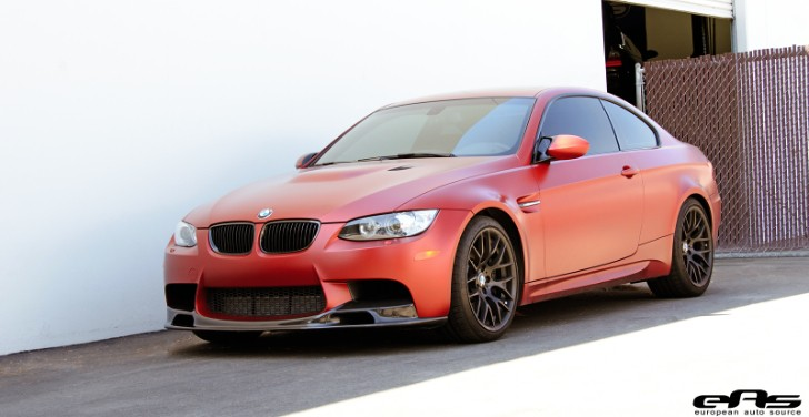 Frozen Red BMW E92 M3 Gets Carbon Fiber Parts at EAS [Photo Gallery]
