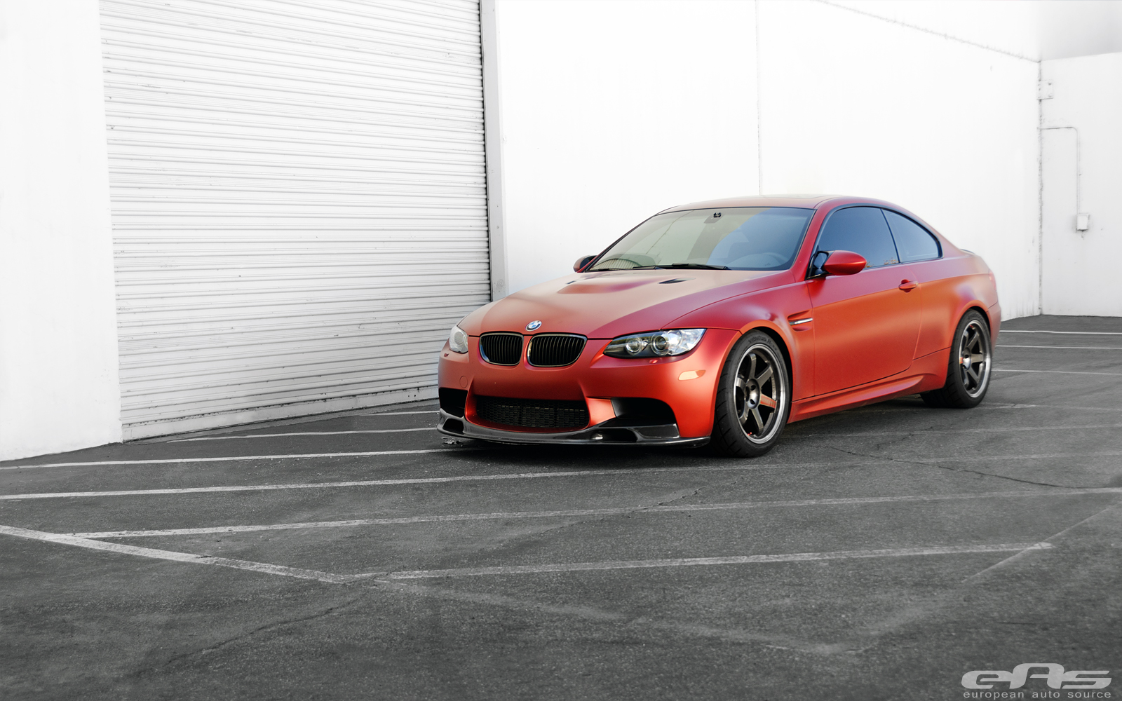 frozen red bmw e92 m3 gets pro coilovers at eas autoevolution. Black Bedroom Furniture Sets. Home Design Ideas