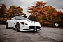 Frozen White Maserati GranCabrio on PUR Wheels