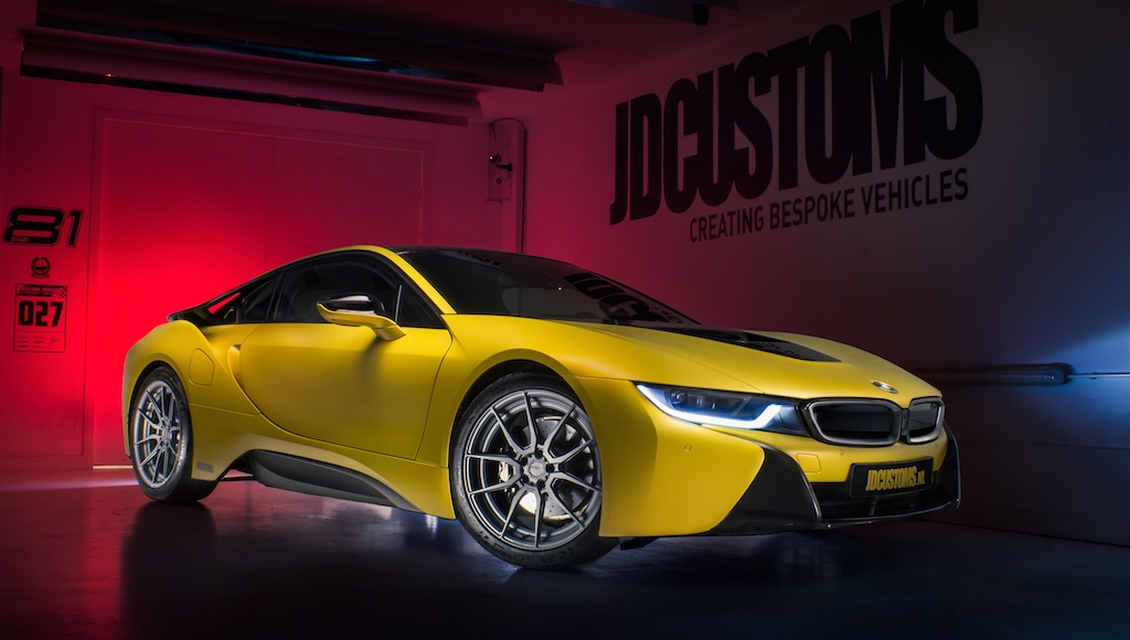 Frozen Yellow Bmw I8 From Jdcustoms Is Different Autoevolution