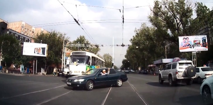 Funky Tram Hits Like Karma [Video]