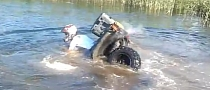 Funny ATV Sinks into Lake [Video]
