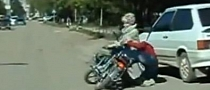 Funny Footage of Bike Tackling Pedestrian [Video]