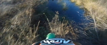 Funny Motocross Crash into Pond [Video]