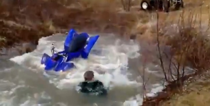 Funny Voluntary Groin Shot on ATV [Video]