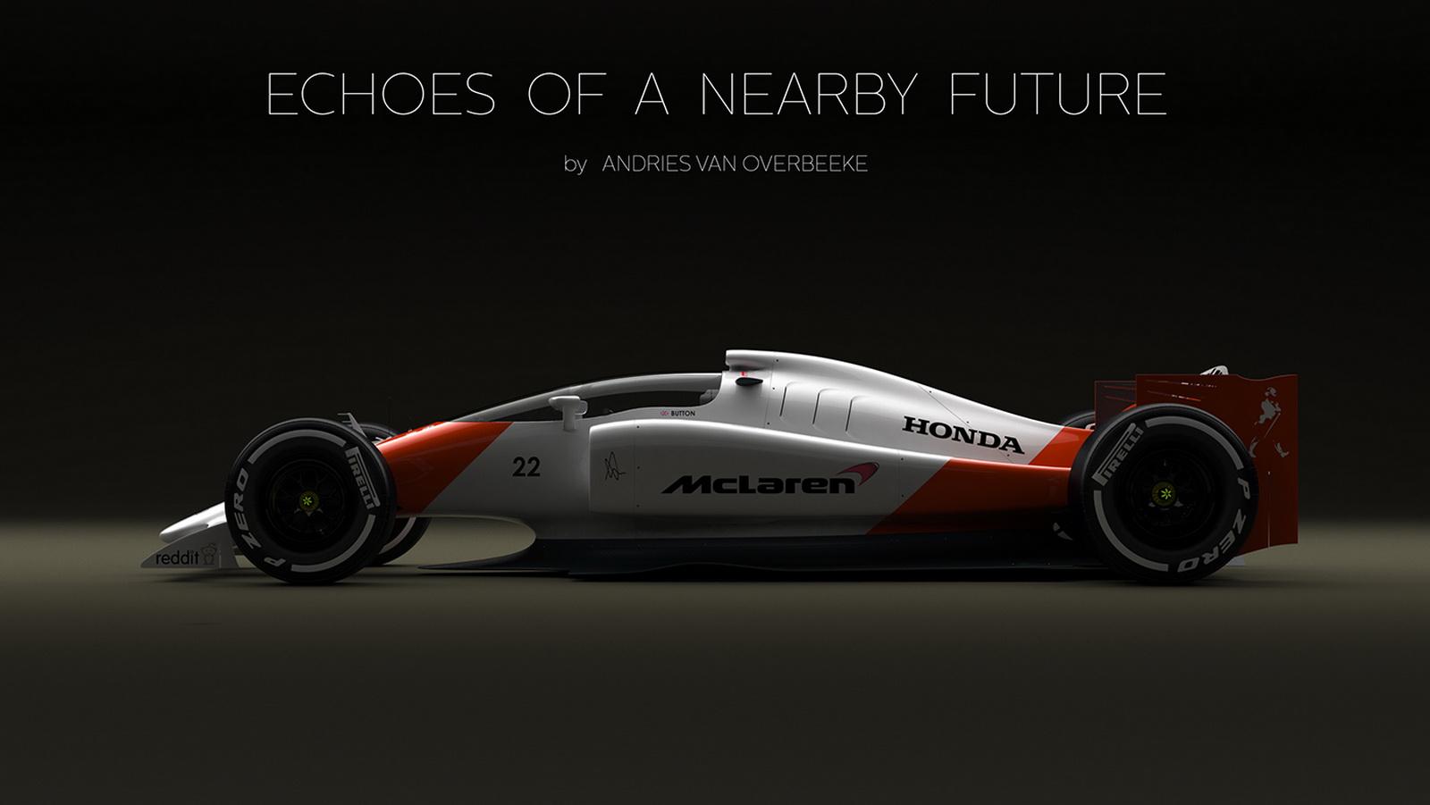 ... Concept Earns Closed Cockpit, Honda-McLaren Livery - autoevolution