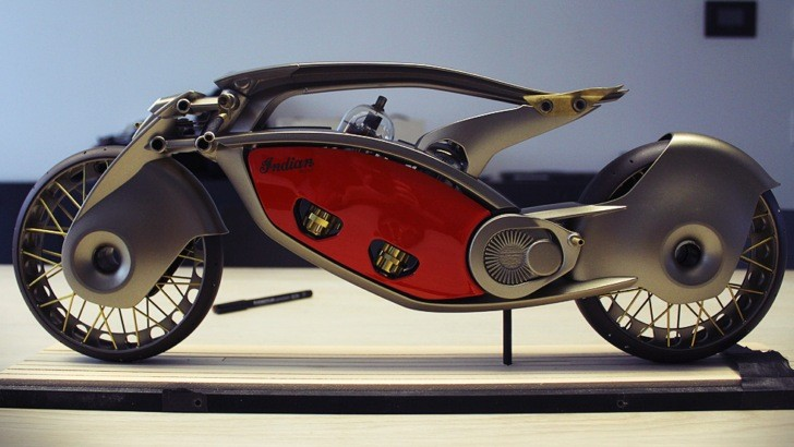 Futuristic Indian Motorcycles Bike Concept by Wojtek Bachleda