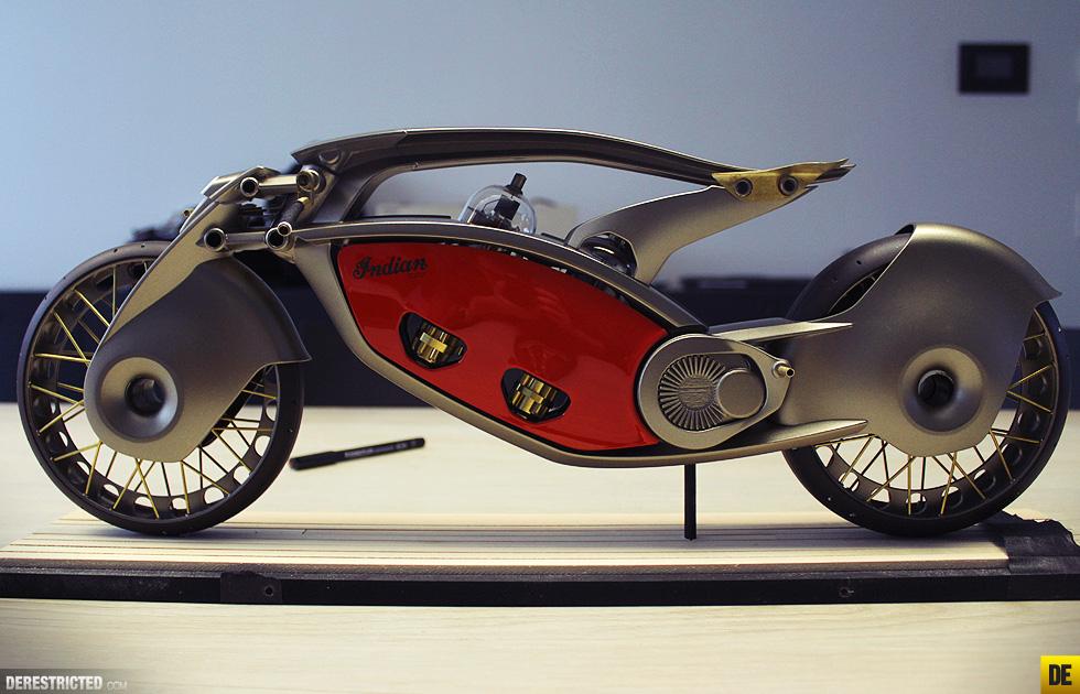 Futuristic Indian Motorcycles Bike Concept By Wojtek Bachleda