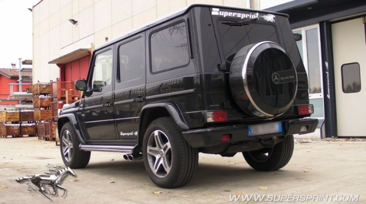 G 500 (W463) Non-Facelift Gets Rumbling Supersprint Exhaust [Video]