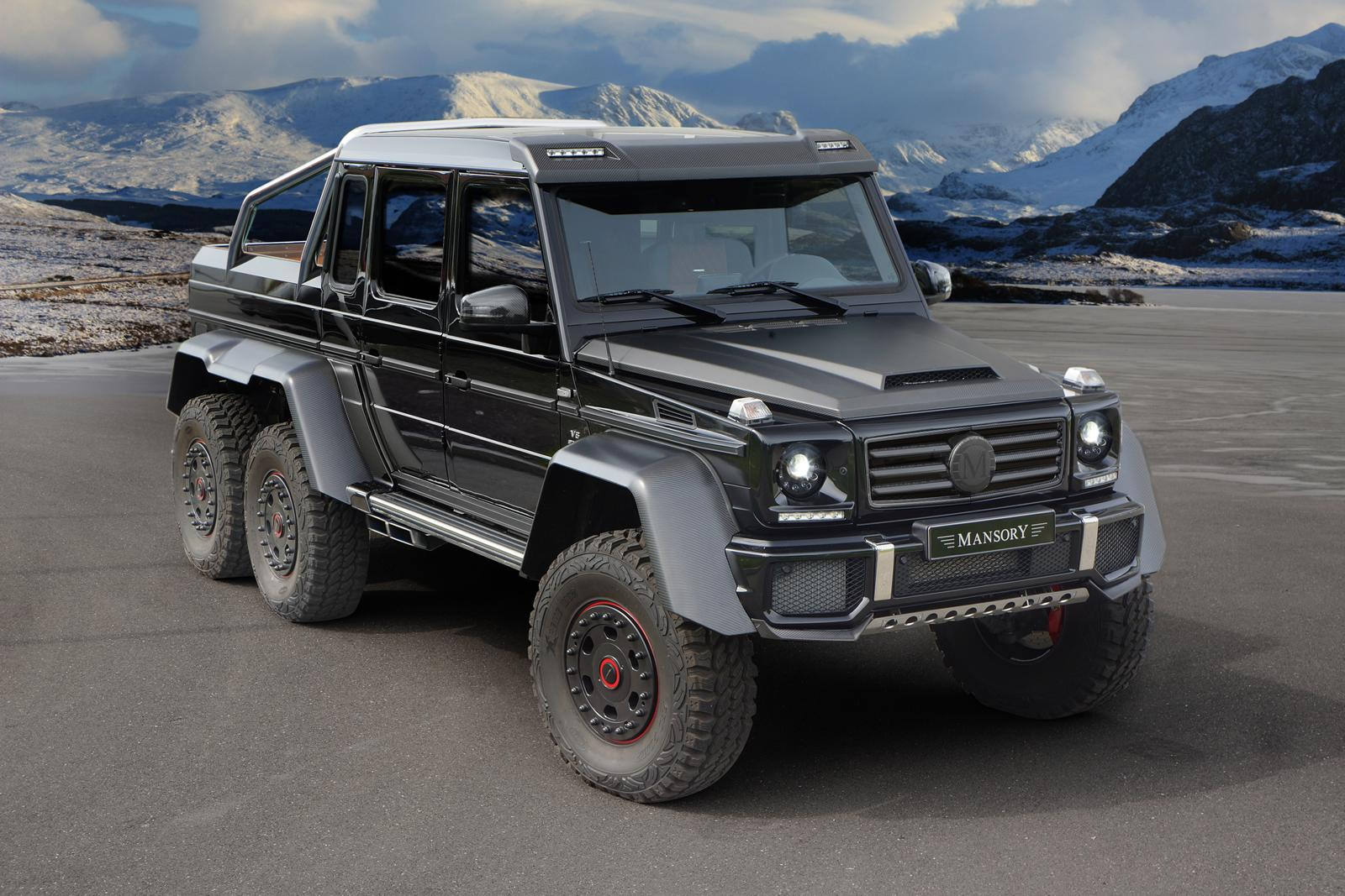 G 63 amg 6x6 gets more oomph from mansory autoevolution for Mercedes benz g 63 amg 6x6