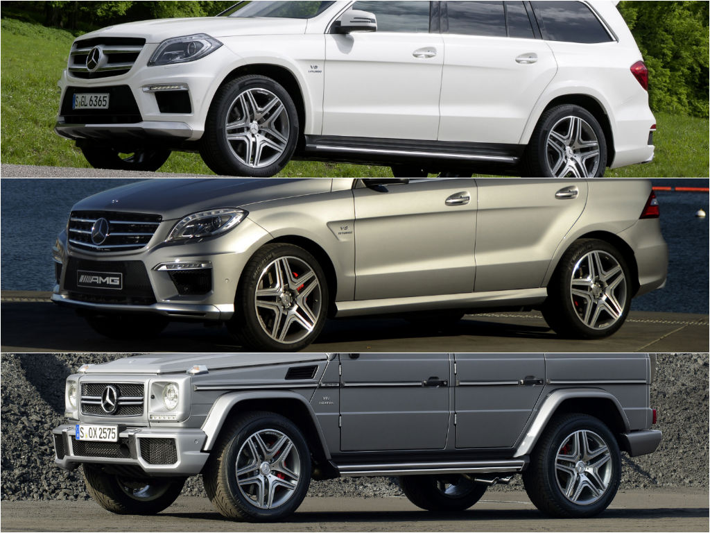 g 63 amg vs gl 63 amg vs ml 63 amg exhaust battle. Black Bedroom Furniture Sets. Home Design Ideas