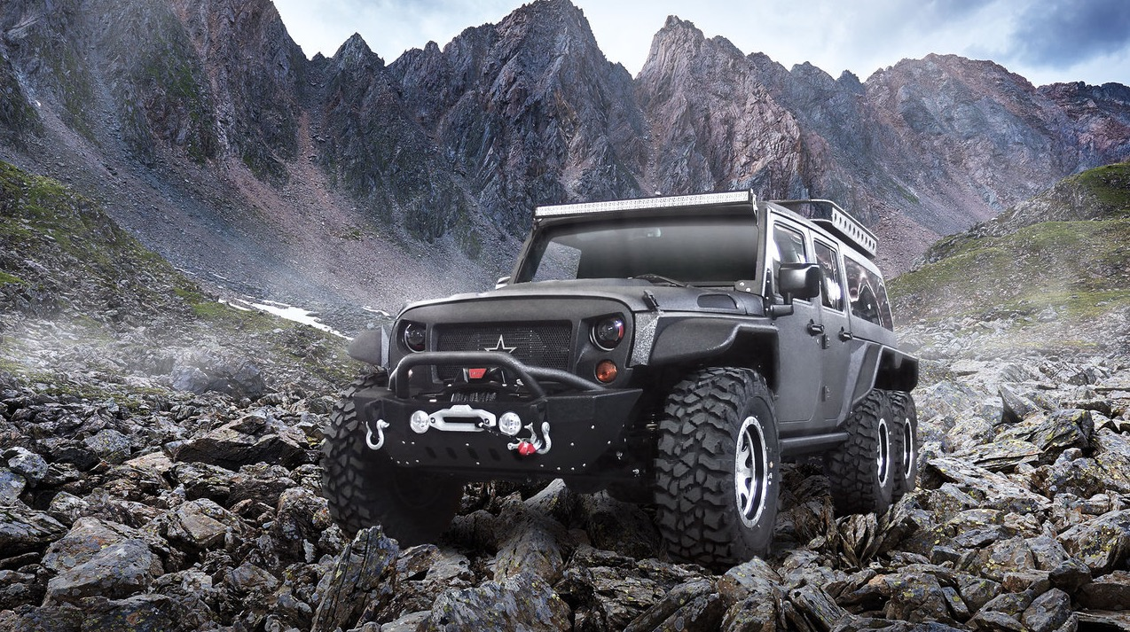 Chinese nd G. Patton Unveils 6x6 Jeep Wrangler Conversion For ...