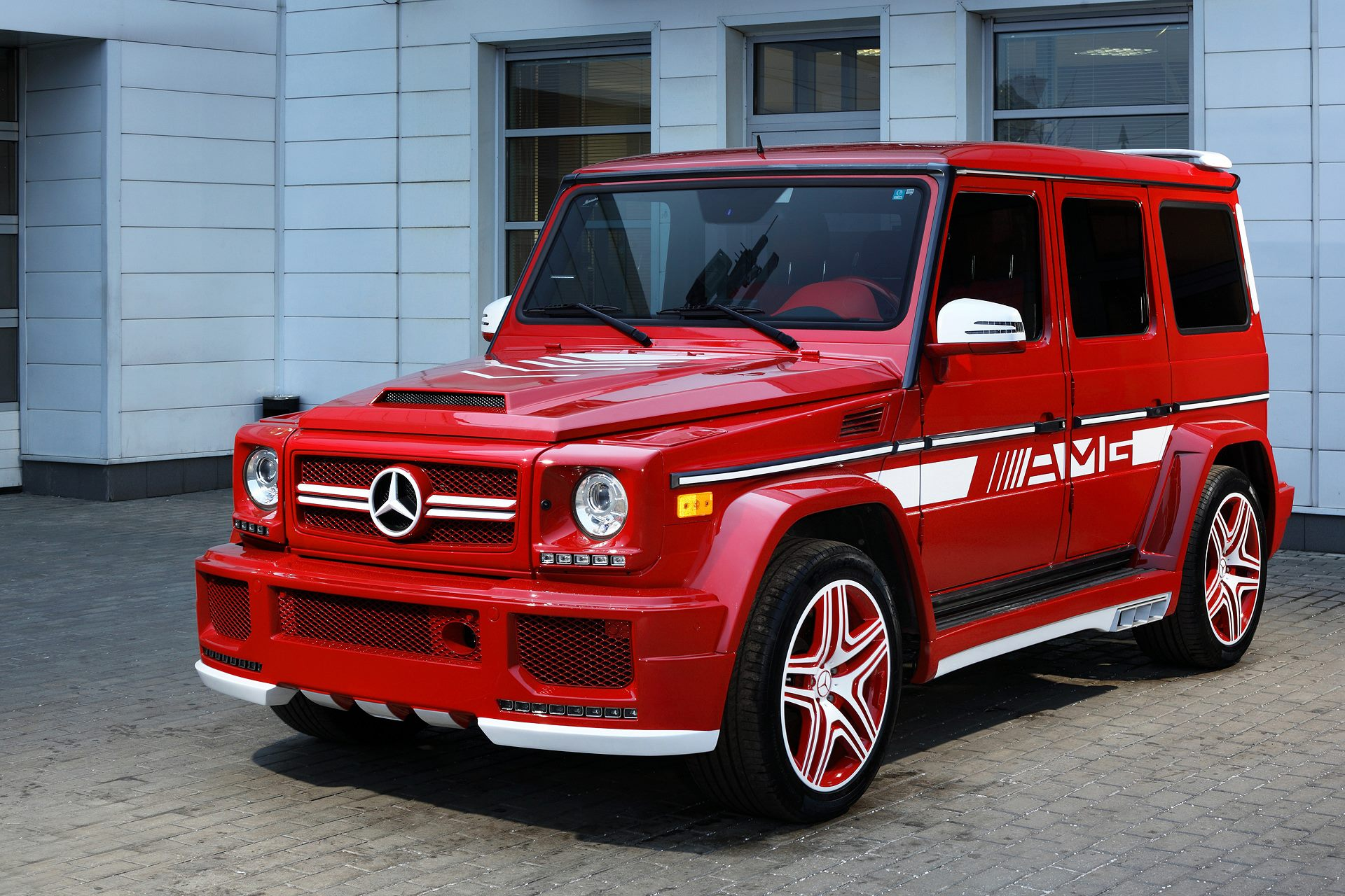 g63 amg with hamann body kit and topcar interior is a red
