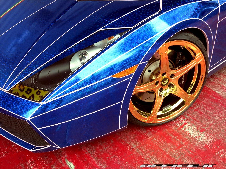 Gallardo Spyder Morohoshi S Special Gets Gold Wheels And Tron Wrap