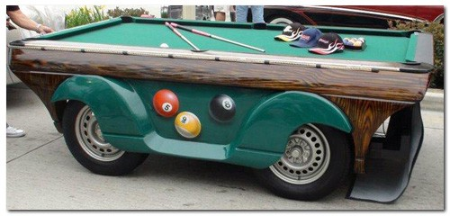 Mph Chevrolet Pool Table Car Is The Ultimate Gentlemans Toy - Car pool table