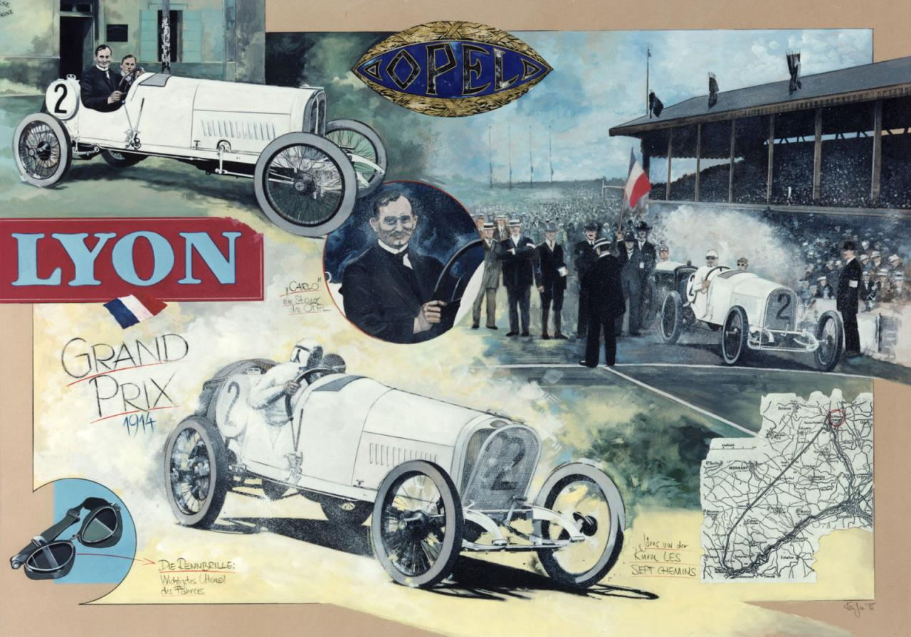 100-Year Old Opel Race Cars Return to Grand Prix de Lyon ...