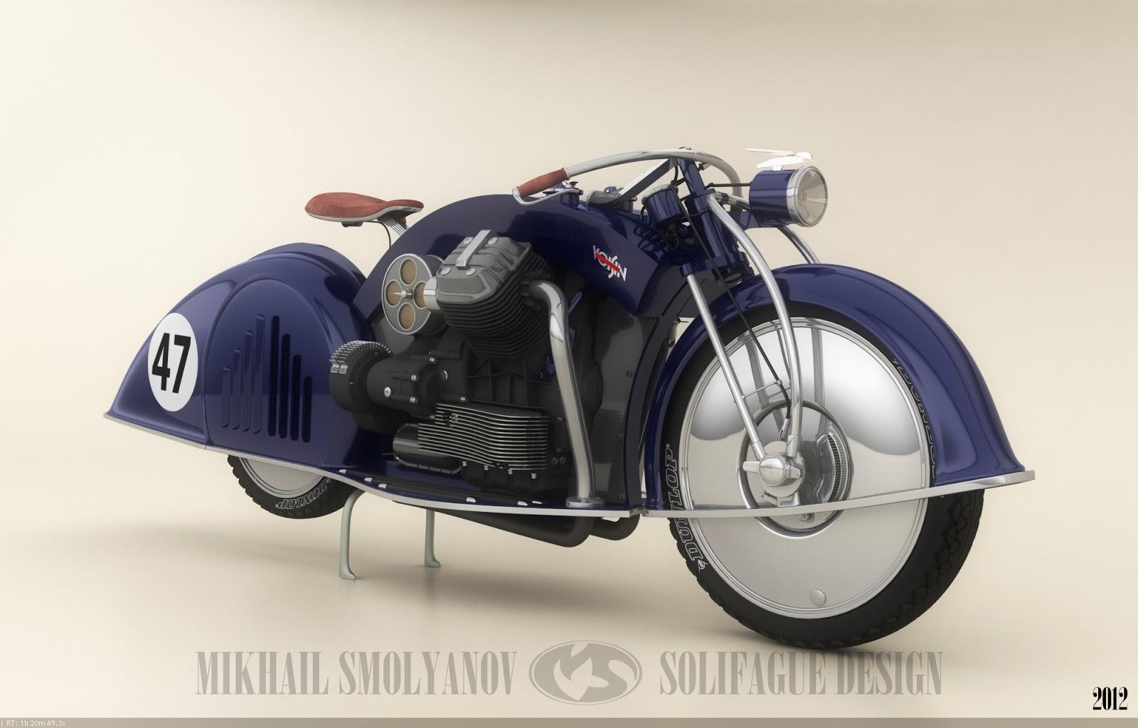 1934 Voisin Aerodyne Inspired Vsn 47 Concept Motorcycle