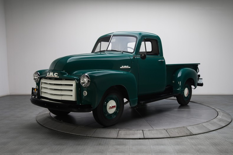 1952 gmc 100 pickup truck is beautifully restored to original condition video photo gallery. Black Bedroom Furniture Sets. Home Design Ideas
