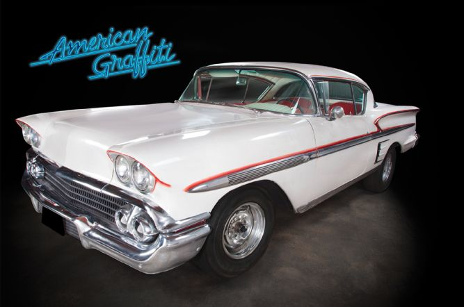 1958 chevy impala from american graffiti will go under the hammer autoevolution. Black Bedroom Furniture Sets. Home Design Ideas