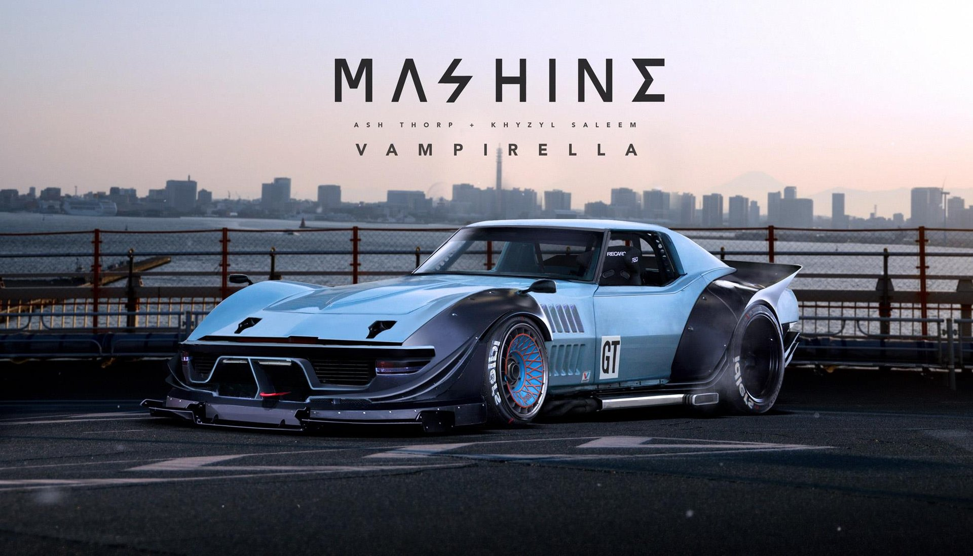 1960s Mustang Dodge Charger And Corvette C3 Rendered As