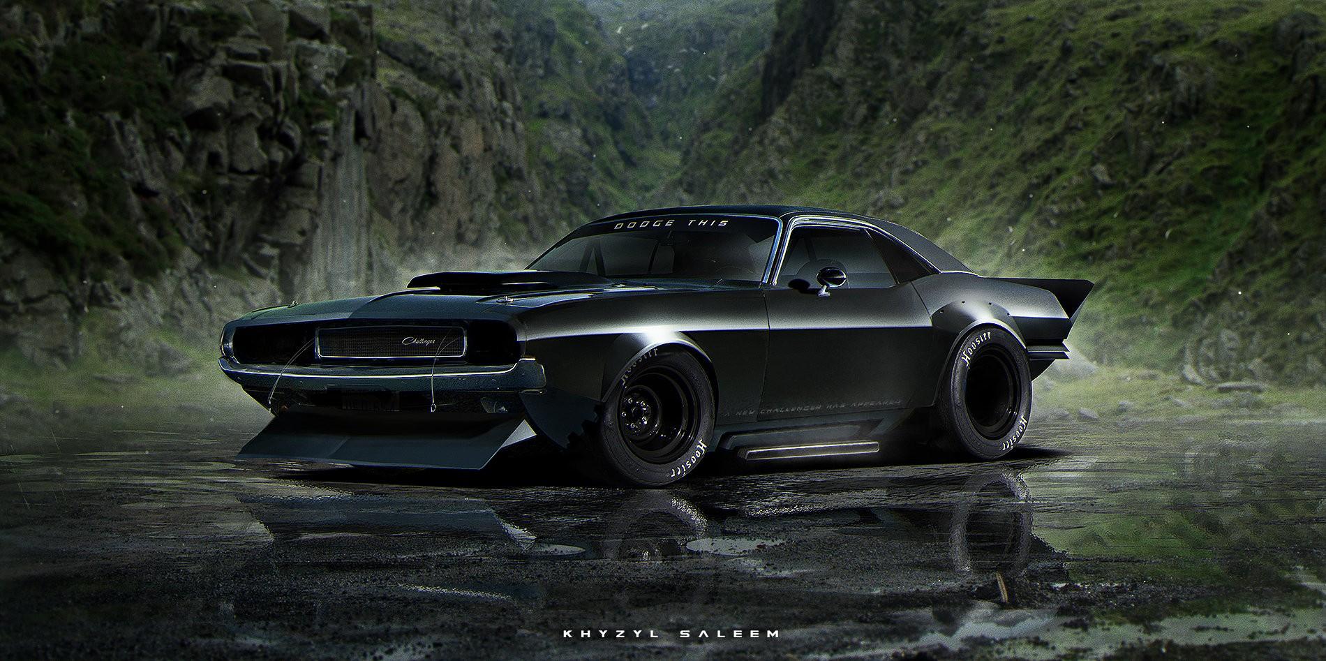 1960s Mustang, Dodge Charger and Corvette C3 Rendered as Toxic ...
