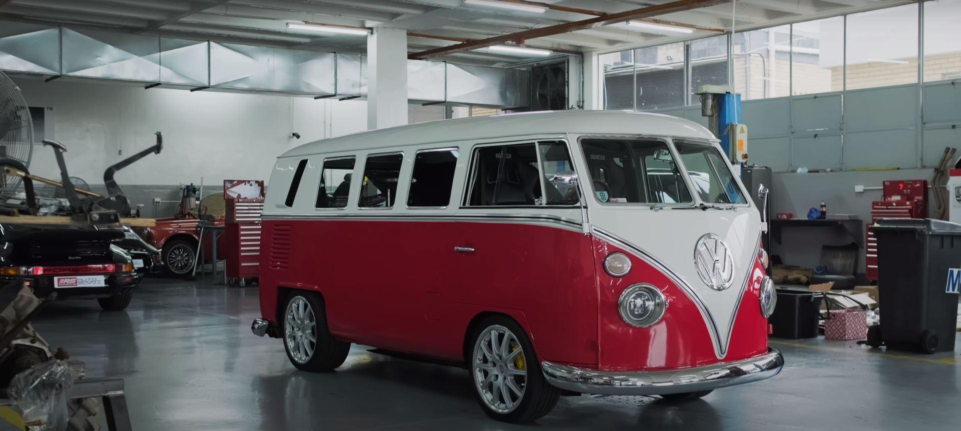 1965 Vw Bus Restomod Is No Hippie Van Hides An Air Cooled Boxer Secret Autoevolution