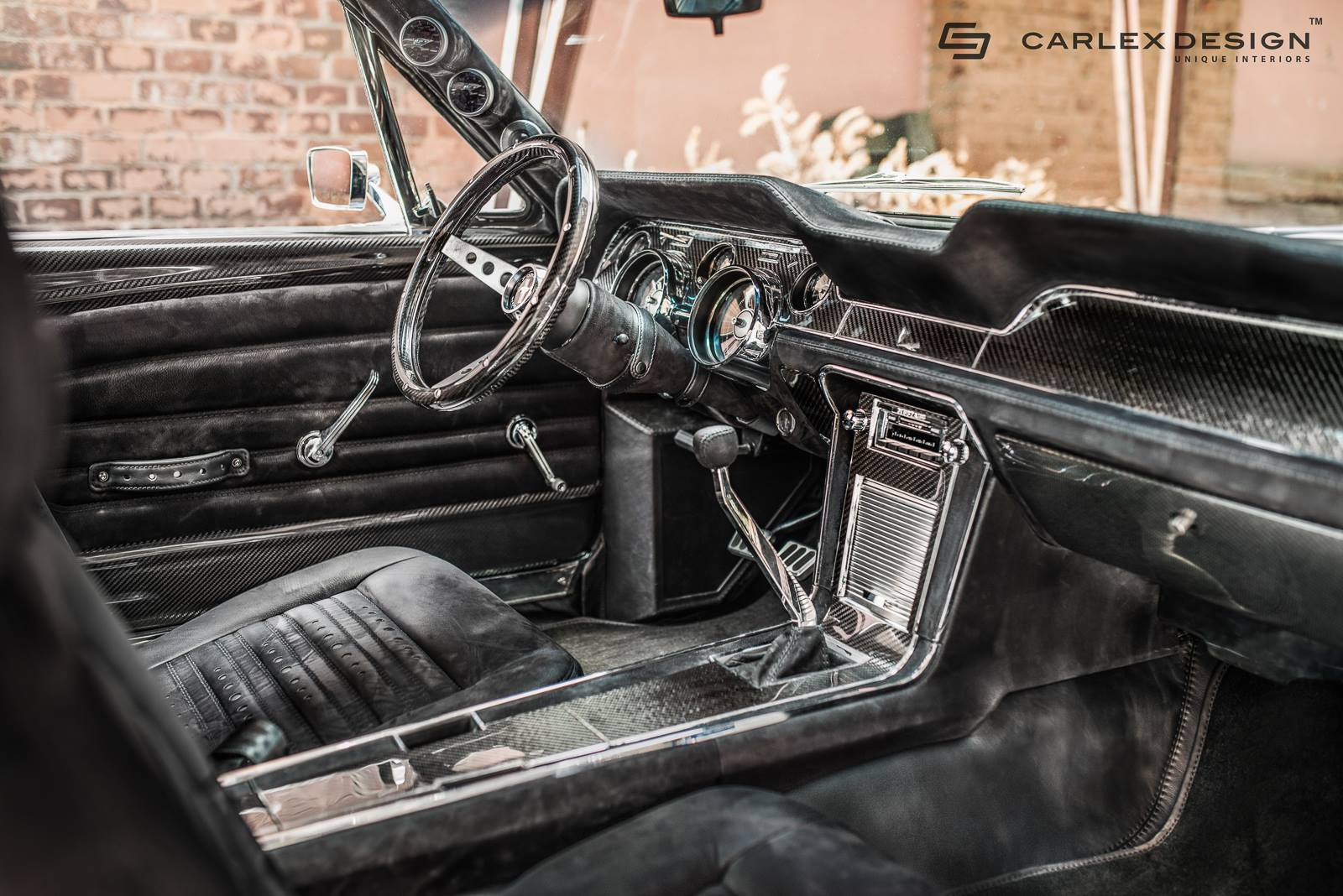 1967 ford mustang by carlex has carbon fiber and alcantara interior autoevolution for Carbon fiber mustang interior parts