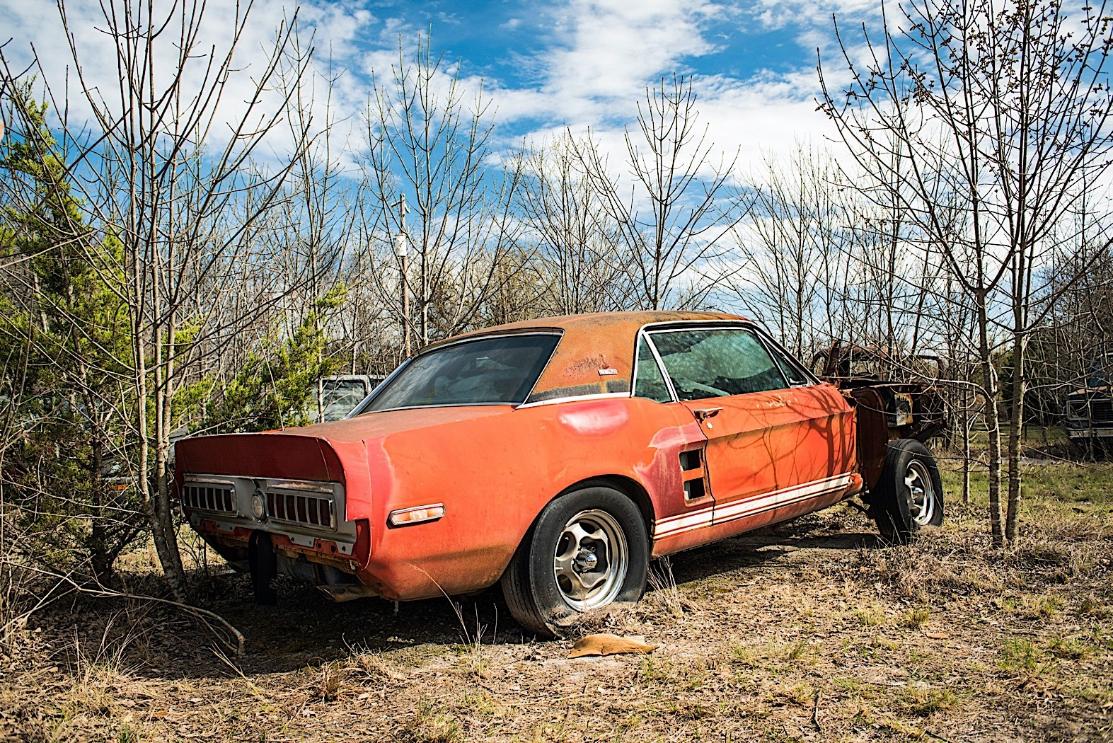 Red 1967 Mustang Gt