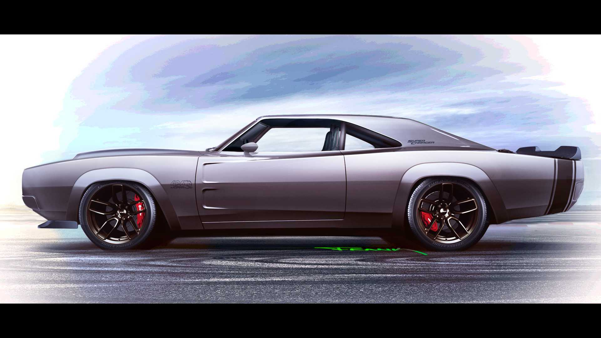 1968 Dodge Super Charger Debuts With 1 000 Hp Hellephant Crate